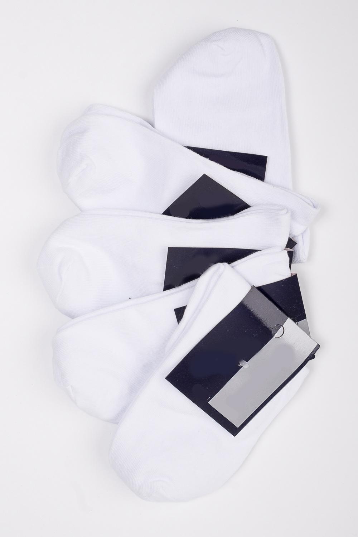 НоскиНоски<br>Хлопковые носки из мягкого трикотажа. В наборе 5 пар.  В изделии использованы цвета: белый  Цена на сайте указана за 1 упаковку.<br><br>По сезону: Всесезон<br>Размер : 23-25,27-29<br>Материал: Трикотаж<br>Количество в наличии: 3