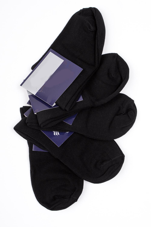 НоскиНоски<br>Хлопковые носки из мягкого трикотажа. В наборе 5 пар.  В изделии использованы цвета: черный  Цена на сайте указана за 1 упаковку.<br><br>По сезону: Всесезон<br>Размер : 23-25,27-29,31-33<br>Материал: Трикотаж<br>Количество в наличии: 7