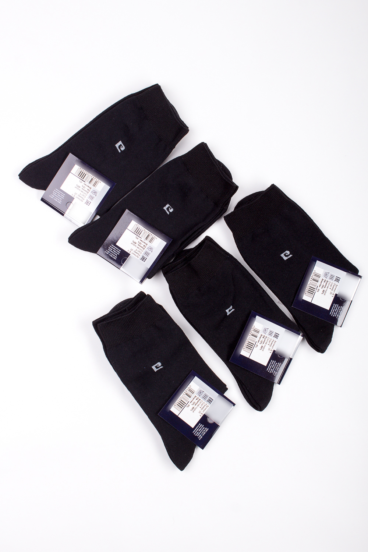 НоскиНоски<br>Трикотажные мужские носки. В наборе 5 пар.  В изделии использованы цвета: черный, белый  Цена на сайте указана за 1 упаковку.<br><br>По сезону: Осень,Весна<br>Размер : 25,27,29,31<br>Материал: Трикотаж<br>Количество в наличии: 6