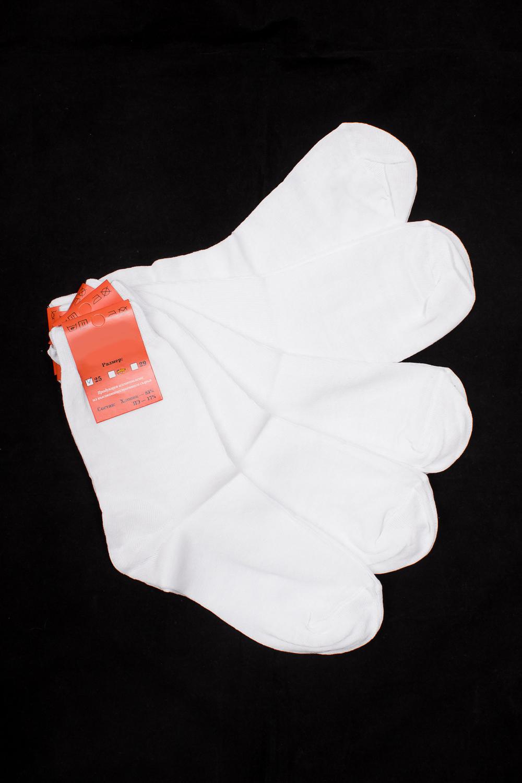 НоскиНоски<br>Однотонные носки из мягкого трикотажа. Носки отличаются хорошим качеством, прочностью, надежностью и удобством в пользовании. Оптимальный состав обеспечит комфорт и здоровье Ваших ног.  В наборе 5 пар.  В изделии использованы цвета: белый  Цена на сайте указана за 1 упаковку.<br><br>По сезону: Всесезон<br>Размер : 25,27,29<br>Материал: Трикотаж<br>Количество в наличии: 4