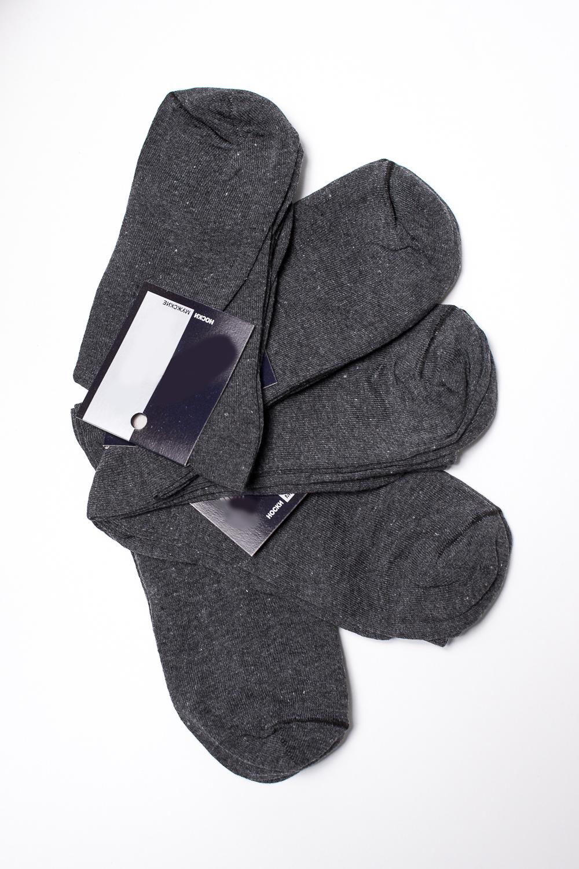 НоскиНоски<br>Хлопковые носки из мягкого трикотажа. В наборе 5 пар.  В изделии использованы цвета: серый, черный  Цена на сайте указана за 1 упаковку.<br><br>По сезону: Всесезон<br>Размер : 27,29<br>Материал: Трикотаж<br>Количество в наличии: 6