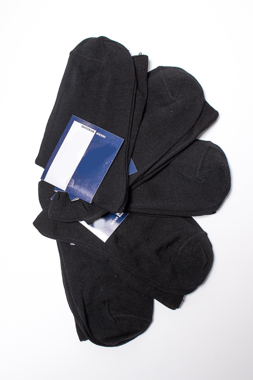 НоскиНоски<br>Хлопковые носки из мягкого трикотажа. В наборе 5 пар.  В изделии использованы цвета: черный, белый  Цена на сайте указана за 1 упаковку.<br><br>По сезону: Всесезон<br>Размер : 25,27<br>Материал: Трикотаж<br>Количество в наличии: 4