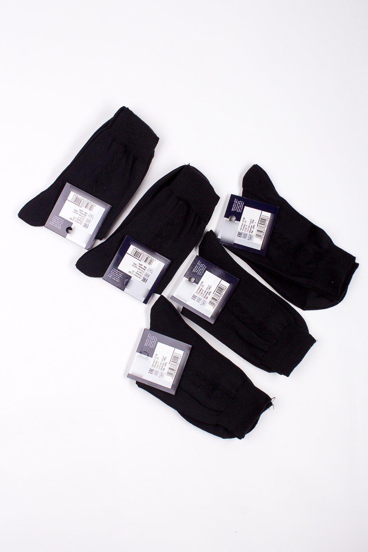 НоскиНоски<br>Трикотажные мужские носки. В наборе 5 пар.  В изделии использованы цвета: черный  Цена на сайте указана за 1 упаковку.<br><br>По сезону: Осень,Весна<br>Размер : 25,27,29,31<br>Материал: Трикотаж<br>Количество в наличии: 15