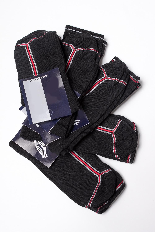 НоскиНоски<br>Трикотажные мужские носки. В наборе 5 пар.  В изделии использованы цвета: черный, красный, серый  Цена на сайте указана за 1 упаковку.<br><br>По сезону: Всесезон<br>Размер : 23-25<br>Материал: Трикотаж<br>Количество в наличии: 2