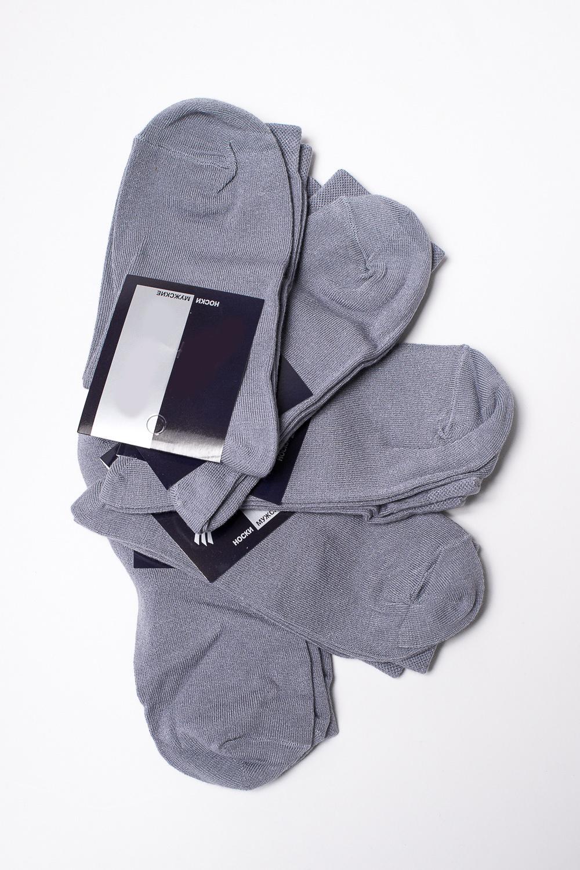 НоскиНоски<br>Бамбуковые носки из мягкого трикотажа. В наборе 5 пар.  В изделии использованы цвета:  серый  Цена на сайте указана за 1 упаковку.<br><br>По сезону: Всесезон<br>Размер : 27-29<br>Материал: Трикотаж<br>Количество в наличии: 2