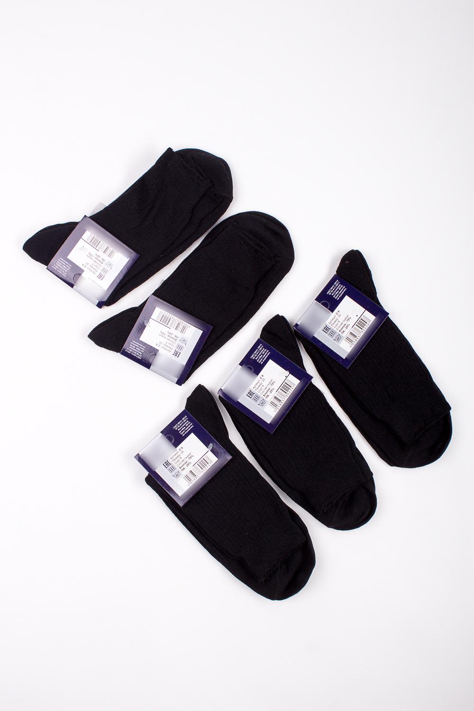 НоскиНоски<br>Трикотажные мужские носки. В наборе 5 пар.  В изделии использованы цвета: черный  Цена на сайте указана за 1 упаковку.<br><br>По сезону: Осень,Весна<br>Размер : 29<br>Материал: Трикотаж<br>Количество в наличии: 1