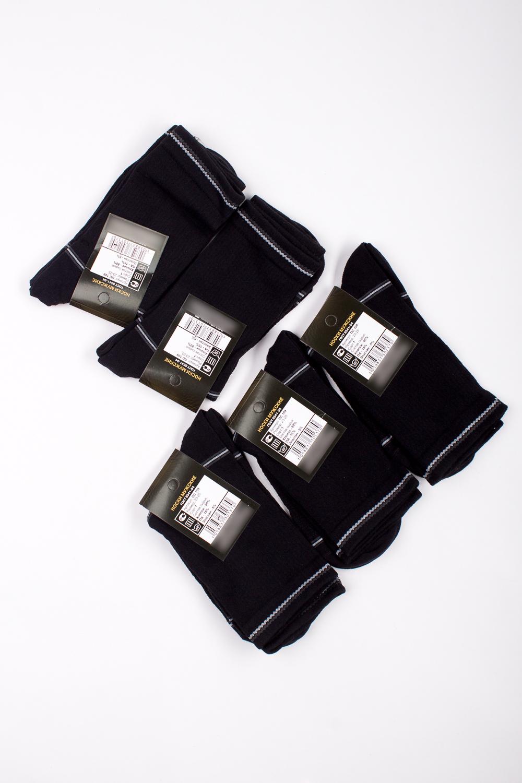 НоскиНоски<br>Трикотажные мужские носки. В наборе 5 пар.  В изделии использованы цвета: черный, серый  Цена на сайте указана за 1 упаковку.<br><br>По сезону: Осень,Весна<br>Размер : 23-25<br>Материал: Трикотаж<br>Количество в наличии: 2