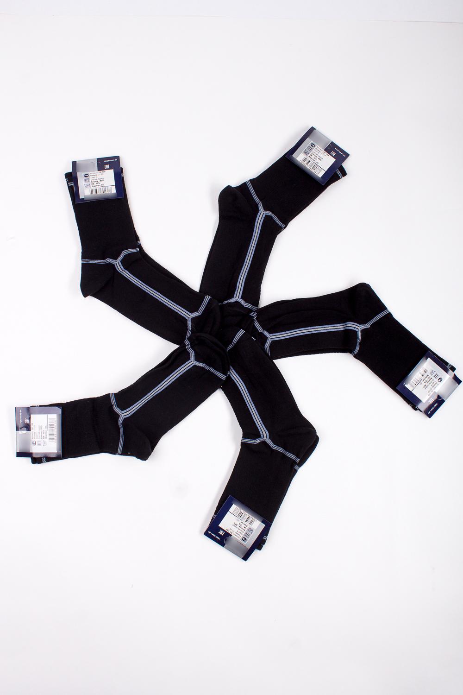 НоскиНоски<br>Трикотажные мужские носки. В наборе 5 пар.  В изделии использованы цвета: черный, голубой, серый  Цена на сайте указана за 1 упаковку.<br><br>По сезону: Осень,Весна<br>Размер : 27-29<br>Материал: Трикотаж<br>Количество в наличии: 2