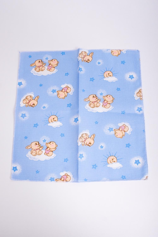 Платок носовойПлатки и шарфы<br>Ситцевый платочек для ребенка.  Размер: 24*24 см.  В изделии использованы цвета: голубой и др.<br><br>По сезону: Всесезон<br>Размер : UNI<br>Материал: Ситец<br>Количество в наличии: 2