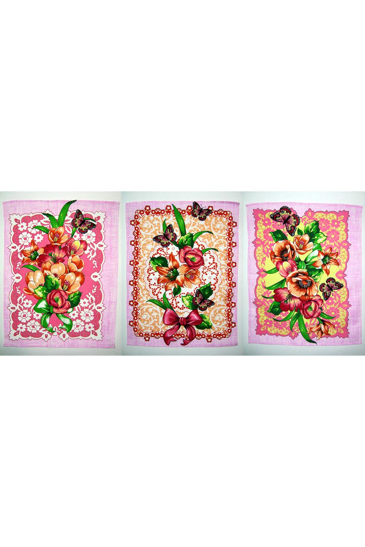 Набор полотенец кухонныхПолотенца<br>Яркие хлопковые полотенца.  В изделии использованы цвета: розовый и др.  В набор входят:  полотенце 50*60см -3 шт.<br><br>По рисунку: Растительные мотивы,Цветные,Цветочные,С принтом<br>По материалу: Хлопок<br>Размер : 50*60<br>Материал: Хлопок<br>Количество в наличии: 14