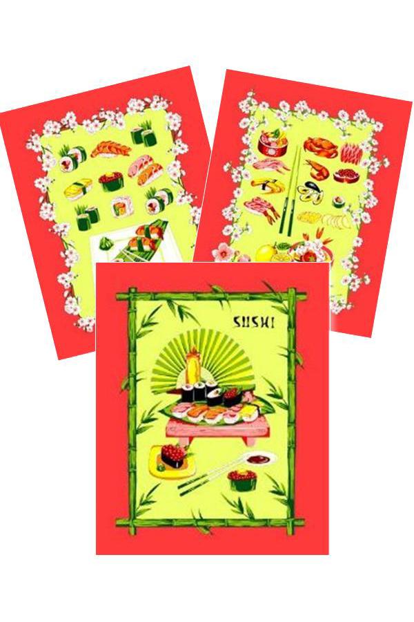 Набор полотенецПолотенца<br>Набор хлопковых полотенец на кухню.  В наборе 3 полотенца размером 45*60 см  Цвет: красный, желтый, зеленый<br><br>Отделка края: Отделка строчкой<br>По материалу: Вафельные,Хлопковые<br>По назначению: Декоротивные,Практические<br>По рисунку: С набивным рисунком,С принтом (печатью),Цветные<br>Размер : 45*60<br>Материал: Хлопок<br>Количество в наличии: 4