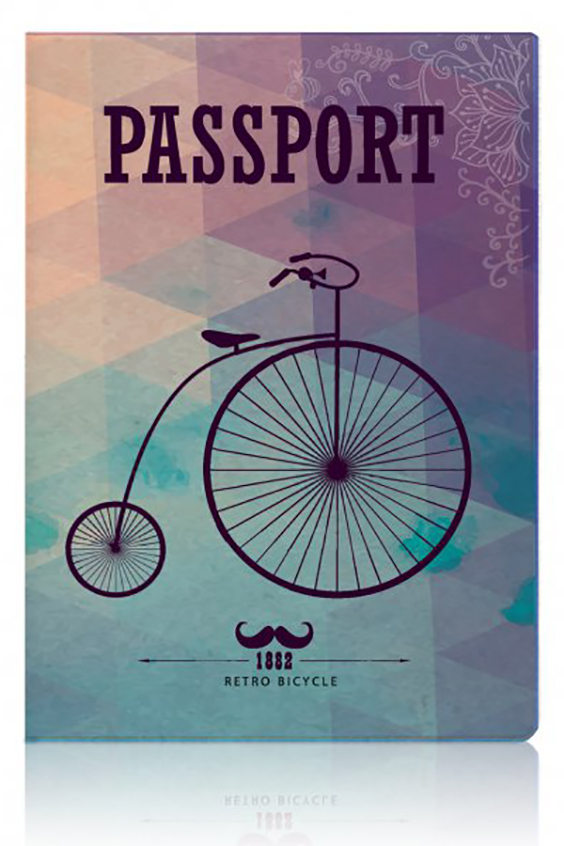 Обложка для паспортаДля паспорта<br>Стильная обложка для паспорта.  Размер в развернутом виде 13,3*19,1см см<br><br>Размер : UNI<br>Материал: ПВХ<br>Количество в наличии: 3
