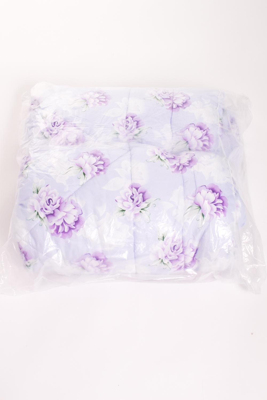 ОдеялоОдеяла и наматрасники<br>Ткань верха - хлопок+полиэстер Наполнитель - холофайбер  Цвет: голубой, белый, сиреневый<br><br>По материалу: Синтетические ткани,Хлопок<br>По размеру: Двуспальные<br>По рисунку: Растительные мотивы,Цветные,Цветочные,С принтом<br>Размер : 172*205<br>Материал: Смесовая: хлопок+полиэстер<br>Количество в наличии: 3