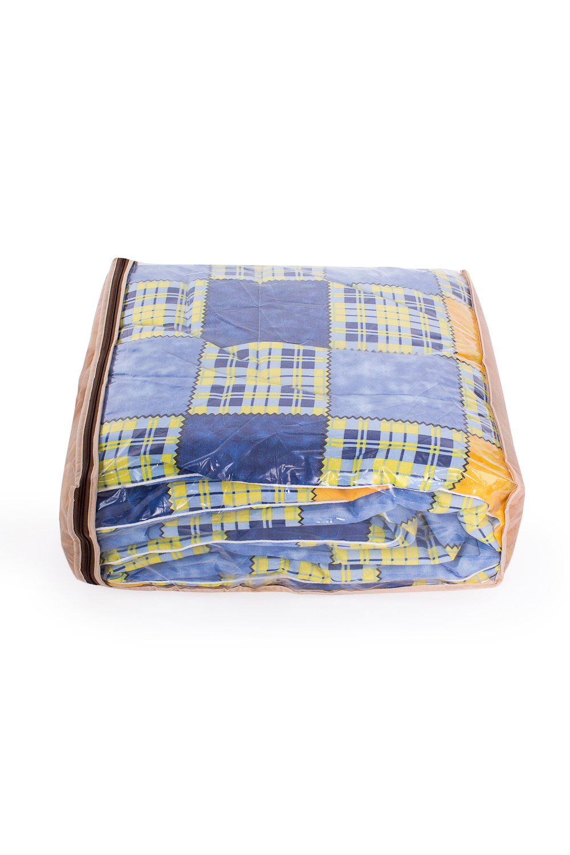 ОдеялоОдеяла и наматрасники<br>Овечья шерсть и изделия, наполнителем которых она является, такие как одеяла, подушки и наматрасники не только дарят непередаваемое ощущение комфорта и тепла, но и обладают рядом действительно лечебных свойств. Например, шерстяные одеяла стимулируют кровообращение, способствуют снятию боли в спине, суставах и мышцах. Люди пожилого возраста выбирают именно такие изделия, поскольку ланолин, содержащийся в овечьей шерсти, благотворным образом влияет на остеохондроз, ревматизм и артрит, препятствует увяданию кожи и преждевременному старению.  В изделии использованы цвета: синий, желтый и др.  Размеры:  Одеяло полутораспальное - 140х205 см. Одеяло двуспальное - 172х205 см. Одеяло Евро - 200х220 см.  Допускается расхождение в размере ± 2 см<br><br>По размеру: Двуспальные<br>По рисунку: С принтом,Цветные<br>Размер : 2,0<br>Материал: Поликоттон<br>Количество в наличии: 1