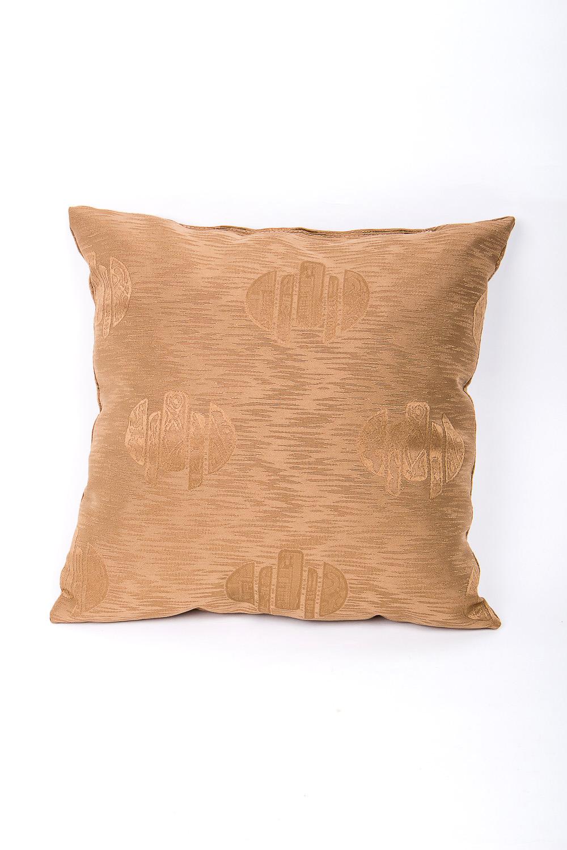 ПодушкаДиванные подушки<br>Декоративная подушка, как дополнение к мягкой мебели, делает обстановку комнаты интересней.   Используется потайная молния.   Размер: 35х35 см.   В изделии использованы цвета: золотой  Наполнитель: синтепон<br><br>По назначению: Декоротивные<br>По рисунку: Однотонные<br>Размер : 35*35<br>Материал: Жаккард<br>Количество в наличии: 1