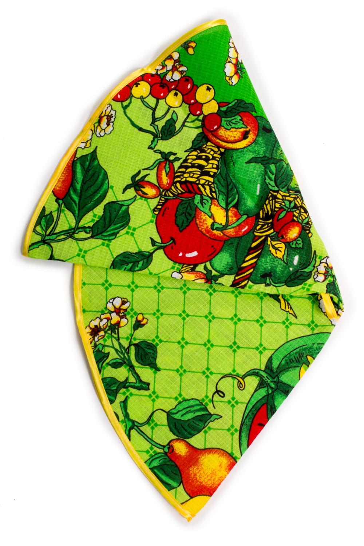 ПолотенцеПолотенца<br>Хлопковое полотенце для кухни. Размер 64*64 см.  Цвет: зеленый, красный<br><br>По рисунку: Растительные мотивы,Цветные,С принтом<br>По материалу: Хлопок<br>Отделка края: С лентами<br>Размер : 64*64<br>Материал: Хлопок<br>Количество в наличии: 3