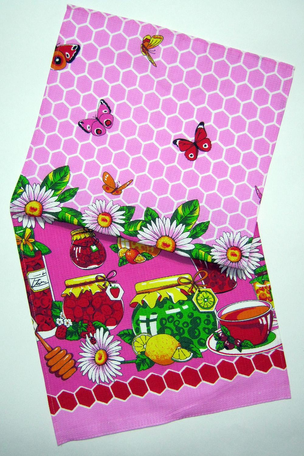 ПолотенцеПолотенца<br>Яркое хлопковое полотенце.В изделии использованы цвета: розовый и др.<br><br>Материал: Хлопок<br>Рисунок: Растительные мотивы,С принтом,Цветные,Цветочные<br>Размер : 38*72<br>Материал: Хлопок<br>Количество в наличии: 9