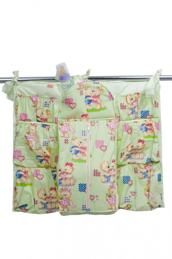 Подвесные карманыБортики и матрасы<br>Подвесные карманы на кроватку для игрушек.  Размер: 50 х 45 см<br><br>Размер : UNI<br>Материал: Хлопок<br>Количество в наличии: 1