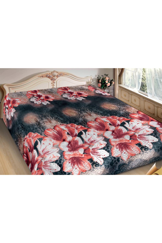 ПокрывалоПокрывала<br>Покрывало на кровать – эта деталь интерьера, которая делает кровать нарядной в течение дня и хранит её для ночи. Оно защищает постельное бельё от износа и загрязнения, сохраняет его свежесть и позволяет Вам каждую ночь ложиться в чистую кровать. Современная мода отводит покрывалам центральное место в спальне и гостиной и советует использовать его не только для того, чтобы защитить мебельную обивку от пыли и пятен. Оригинальная и стильная постельная накидка может не только спрятать белье от посторонних глаз, но и стать элементом декора помещения.  В изделии использованы цвета: коралловый, черный, белый и др.<br><br>Отделка края: Отделка строчкой<br>По материалу: Полиэстер,Шелк<br>По размеру: Полутороспальные,Двуспальные,Евро,ЕвроМакси<br>По рисунку: С принтом (печатью),Цветные,Цветочные<br>По сезону: Всесезон<br>Размер : 180*220,200*220,220*240<br>Материал: Искусственный шелк<br>Количество в наличии: 3