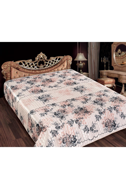 ПокрывалоПокрывала<br>Покрывало на кровать – эта деталь интерьера, которая делает кровать нарядной в течение дня и хранит её для ночи. Оно защищает постельное бельё от износа и загрязнения, сохраняет его свежесть и позволяет Вам каждую ночь ложиться в чистую кровать. Современная мода отводит покрывалам центральное место в спальне и гостиной и советует использовать его не только для того, чтобы защитить мебельную обивку от пыли и пятен. Оригинальная и стильная постельная накидка может не только спрятать белье от посторонних глаз, но и стать элементом декора помещения.  Покрывало из искусственного шелка изготовлено способом ультрастеп (термостёжка), представляет собой полотно шириной 220 см (ткань с 2х сторон, в середине синтепон 80гр/м2).  Ткань искусственный шелк, плотность 107 гр/м2,  активное (стойкое) крашение, не линяет.  Верх покрывала – набивной абстрактный рисунок, низ – однотонная ткань в тон.  Края обработаны шелковой бейкой. Упаковка прозрачный чемодан Пвх с большим вкладышем и фото.  Цвет: розовый, темно-серый.<br><br>Отделка края: Декорация шнуром<br>По материалу: Шелк<br>По назначению: Декоротивные,Практические<br>По размеру: Двуспальные,Евро,ЕвроМакси<br>По рисунку: Растительные мотивы,С набивным рисунком,С принтом (печатью),Цветные,Цветочные<br>По элементам: С бейкой,С подкладкой,С термостежкой,Стеганное<br>Размер : 180*220,200*220,220*240<br>Материал: Искусственный шелк<br>Количество в наличии: 2