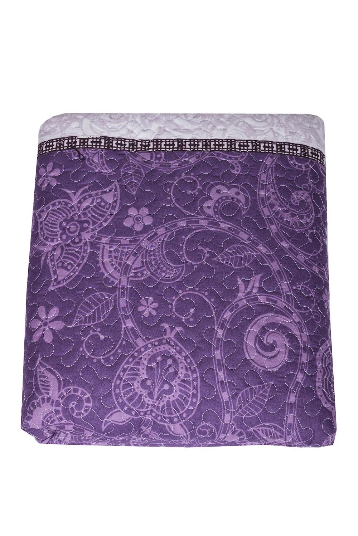 ПокрывалоПокрывала<br>Покрывало на кровать – эта деталь интерьера, которая делает кровать нарядной в течение дня и хранит её для ночи. Оно защищает постельное бельё от износа и загрязнения, сохраняет его свежесть и позволяет Вам каждую ночь ложиться в чистую кровать. Современная мода отводит покрывалам центральное место в спальне и гостиной и советует использовать его не только для того, чтобы защитить мебельную обивку от пыли и пятен. Оригинальная и стильная постельная накидка может не только спрятать белье от посторонних глаз, но и стать элементом декора помещения.В изделии использованы цвета: фиолетовый, серый и др.<br><br>Материал: Полиэстер<br>Размер: ЕвроМакси<br>Рисунок: С принтом,Цветные<br>Элементы: С термостежкой<br>Размер : 220*240<br>Материал: Поликоттон<br>Количество в наличии: 1