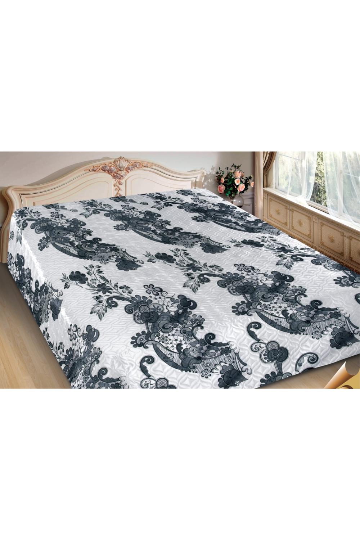ПокрывалоПокрывала<br>Покрывало на кровать – эта деталь интерьера, которая делает кровать нарядной в течение дня и хранит её для ночи. Оно защищает постельное бельё от износа и загрязнения, сохраняет его свежесть и позволяет Вам каждую ночь ложиться в чистую кровать. Современная мода отводит покрывалам центральное место в спальне и гостиной и советует использовать его не только для того, чтобы защитить мебельную обивку от пыли и пятен. Оригинальная и стильная постельная накидка может не только спрятать белье от посторонних глаз, но и стать элементом декора помещения.  В изделии использованы цвета: белый, серый<br><br>Отделка края: Отделка строчкой<br>По материалу: Полиэстер,Шелк<br>По размеру: Полутороспальные,Двуспальные,Евро,ЕвроМакси<br>По рисунку: С принтом (печатью),Цветные,Этнические<br>По сезону: Всесезон<br>Размер : 150*220,180*220,200*220<br>Материал: Искусственный шелк<br>Количество в наличии: 9