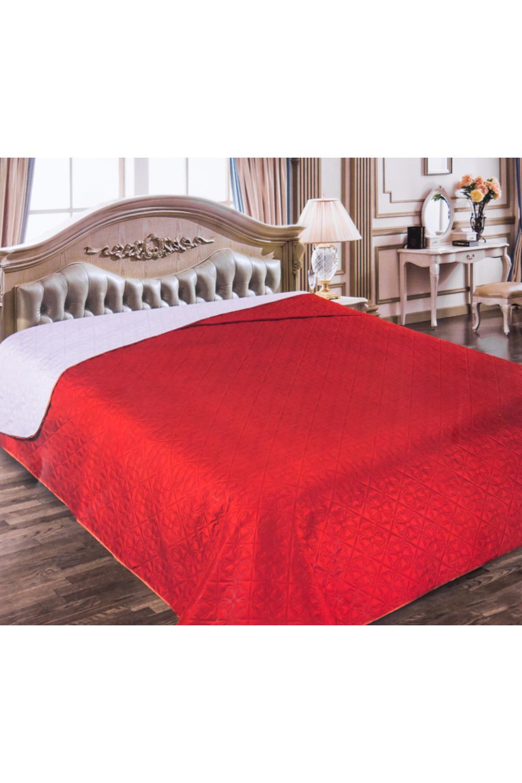 ПокрывалоПокрывала<br>Двухстороннее покрывало.Покрывало на кровать – эта деталь интерьера, которая делает кровать нарядной в течение дня и хранит её для ночи. Оно защищает постельное бельё от износа и загрязнения, сохраняет его свежесть и позволяет Вам каждую ночь ложиться в чистую кровать. Современная мода отводит покрывалам центральное место в спальне и гостиной и советует использовать его не только для того, чтобы защитить мебельную обивку от пыли и пятен. Оригинальная и стильная постельная накидка может не только спрятать белье от посторонних глаз, но и стать элементом декора помещения.В изделии использованы цвета: красный, сиреневый<br><br>Материал: Полиэстер<br>Назначение: Декоротивные,Практические<br>Размер: Двуспальные,Евро<br>Рисунок: Однотонные<br>Элементы: Двухстороннее,Стеганное<br>Размер : 220*240<br>Материал: Полиэстер<br>Количество в наличии: 1