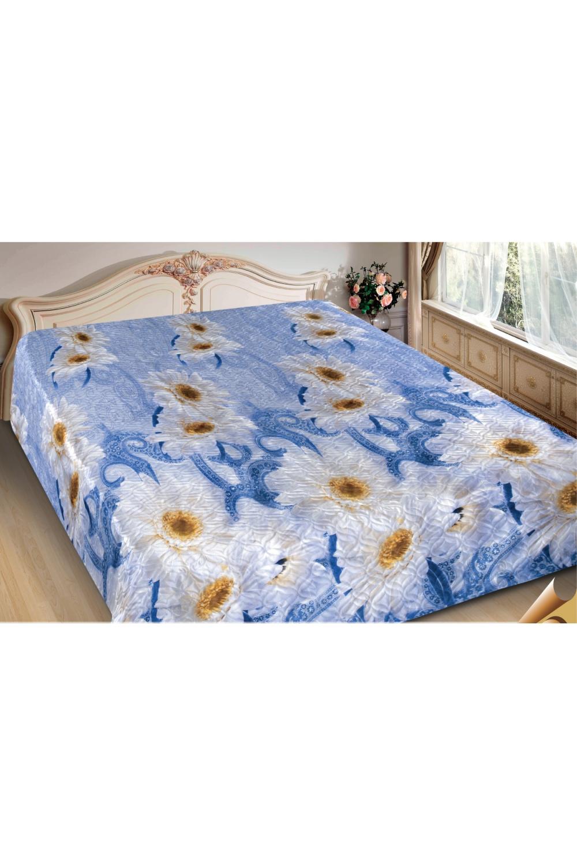 ПокрывалоПокрывала<br>Покрывало на кровать – эта деталь интерьера, которая делает кровать нарядной в течение дня и хранит её для ночи. Оно защищает постельное бельё от износа и загрязнения, сохраняет его свежесть и позволяет Вам каждую ночь ложиться в чистую кровать. Современная мода отводит покрывалам центральное место в спальне и гостиной и советует использовать его не только для того, чтобы защитить мебельную обивку от пыли и пятен. Оригинальная и стильная постельная накидка может не только спрятать белье от посторонних глаз, но и стать элементом декора помещения.  В изделии использованы цвета: голубой, белый, желтый<br><br>Отделка края: Отделка строчкой<br>По материалу: Полиэстер,Шелк<br>По размеру: Полутороспальные,Двуспальные,Евро<br>По рисунку: Цветные,Цветочные,С принтом<br>По сезону: Всесезон<br>Размер : 200*220,220*240<br>Материал: Искусственный шелк<br>Количество в наличии: 10