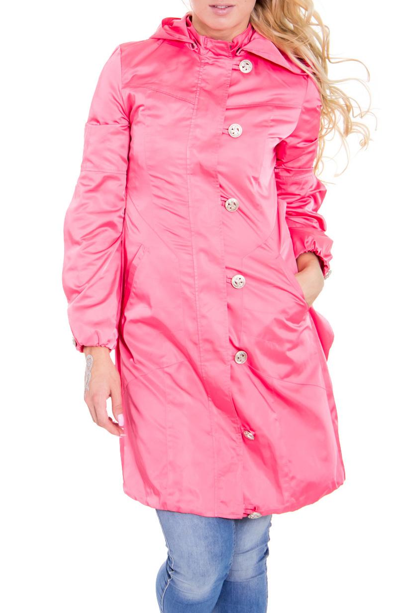 ПлащПлащи<br>Прелестный женский плащ с карманами и длинными рукавами. Цвет: розовый.  Рост девушки-фотомодели 170 см<br><br>По рисунку: Однотонные<br>По сезону: Весна,Осень<br>По силуэту: Полуприталенные<br>По элементам: С декором,С капюшоном,С карманами<br>Рукав: Длинный рукав<br>Застежка: С молнией,С пуговицами<br>По стилю: Повседневный стиль<br>Воротник: Стойка<br>По длине: Средней длины<br>По материалу: Плащевая ткань<br>Размер : 42<br>Материал: Плащевая ткань<br>Количество в наличии: 1