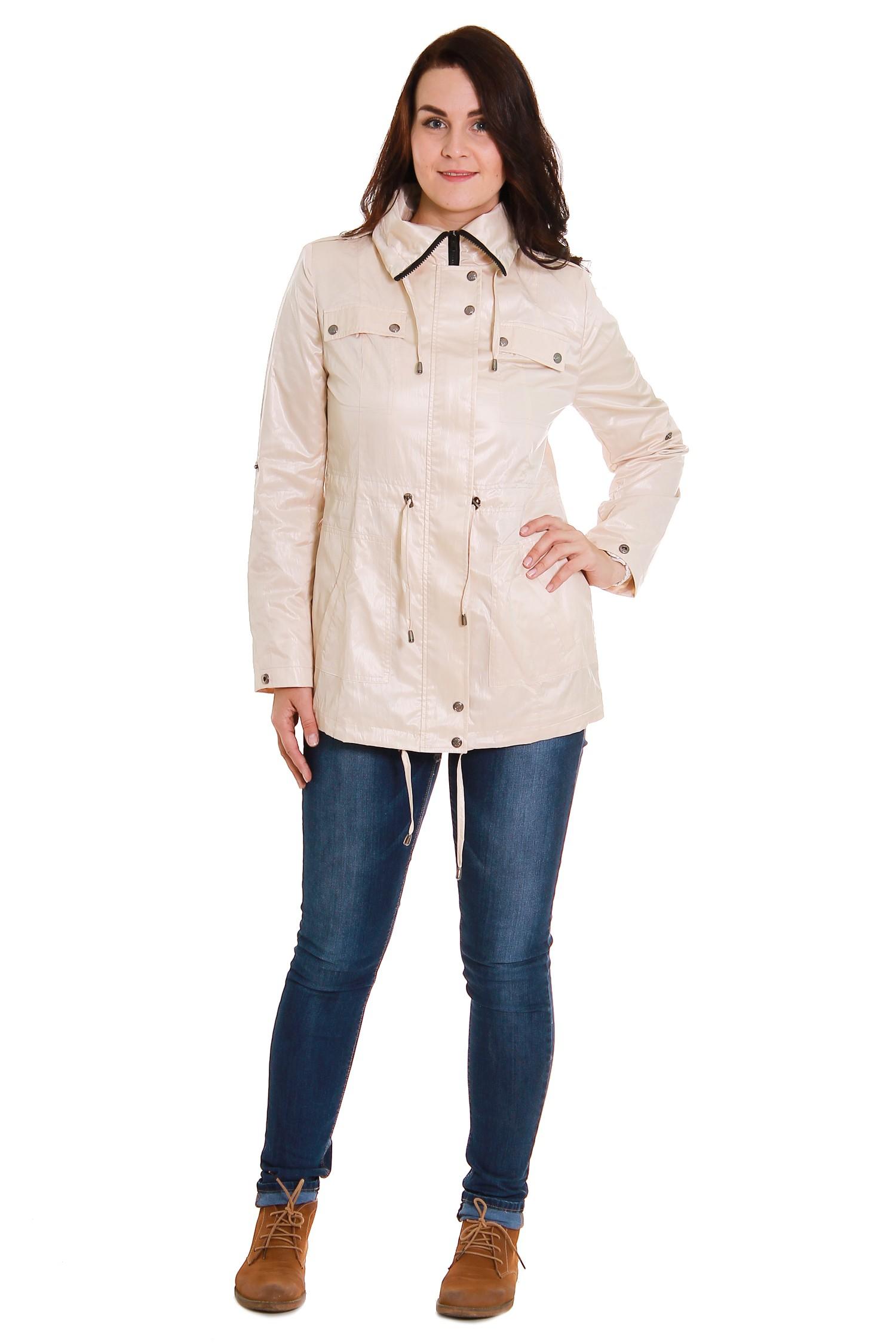 ВетровкаКуртки<br>Куртка - ветровка свободного кроя с кулиской по талии, воротнику и низу изделия. Застёжка на молнию с планкой и кнопками. На груди и по бокам карманы с клапаном. Погоны на плечах.  Длина рукава - 65 см  Рост девушки-фотомодели 180 см  Длина изделия: 48 размер - 77 см ± 1 см 50 размер - 77 см ± 1 см 52 размер - 77 см ± 1 см 54 размер - 77 см ± 1 см 56 размер - 77 см ± 1 см 58 размер - 77 см ± 1 см 60 размер - 77 см ± 1 см 62 размер - 77 см ± 1 см 64 размер - 77 см ± 1 см<br><br>По образу: Город,Спорт<br>По стилю: Кэжуал,Молодежный стиль,Повседневный стиль<br>По рисунку: Однотонные<br>По сезону: Осень,Весна<br>По элементам: С карманами,С манжетами,С воротником,С декором,С капюшоном<br>По длине: Удлиненные<br>Воротник: Стойка<br>Рукав: Длинный рукав<br>Застежка: С молнией<br>Размер: 48,50,52,54,56,58,60,62,64<br>Материал: 100% полиэстер<br>Количество в наличии: 2