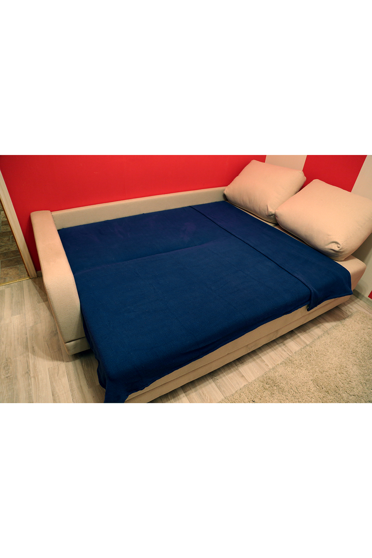 ПледПледы<br>Однотонный хлопковый плед на кровать.  Размер: 170*225 см.  Цвет: синий<br><br>Отделка края: Отделка строчкой<br>По материалу: Хлопок<br>По рисунку: Однотонные<br>Размер : 170*225<br>Материал: Хлопок<br>Количество в наличии: 2
