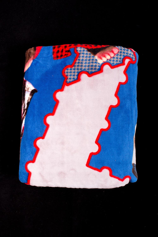 ПледПледы<br>Пледы хорошо удерживают тепло, обладают мягкой поверхностью, просты в уходе, сохраняют форму после многочисленных стирок.  В изделии использованы цвета: молочный, синий, красный и др.<br><br>Отделка края: Отделка строчкой<br>По размеру: Двуспальные<br>По рисунку: Цветные,С принтом<br>Размер : 150*210<br>Материал: Велсофт<br>Количество в наличии: 4