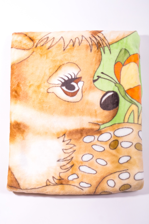 ПледДля детей<br>Мягкий, легкий приятный на ощупь плед. Практичный, устойчивый к разного рода загрязнениям легко стирается, моментально сохнет.  В изделии использованы цвета: бежевый, зеленый и др.<br><br>По размеру: Односпальные<br>По рисунку: Мультипликация,С принтом (печатью),Цветные<br>Размер : 100*95<br>Материал: Велсофт<br>Количество в наличии: 2