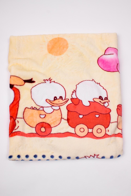 ОдеялоОдеяла и подушки<br>Мягкое, легкое, приятное на ощупь одеяло. Практичное, устойчивый к разного рода загрязнениям, легко стирается, моментально сохнет.  В изделии использованы цвета: бежевый, красный и др.<br><br>Размер : 100*110<br>Материал: Велсофт<br>Количество в наличии: 2