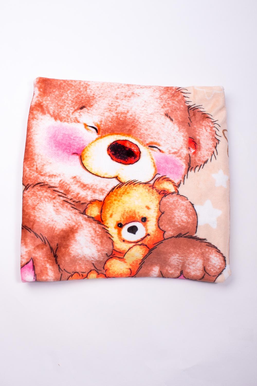 ПледОдеяла и подушки<br>Мягкое, легкое, приятное на ощупь одеяло. Практичное, устойчивый к разного рода загрязнениям, легко стирается, моментально сохнет.  В изделии использованы цвета: коричневый, светло-коралловый и др.<br><br>Размер : 100*100<br>Материал: Флис<br>Количество в наличии: 1