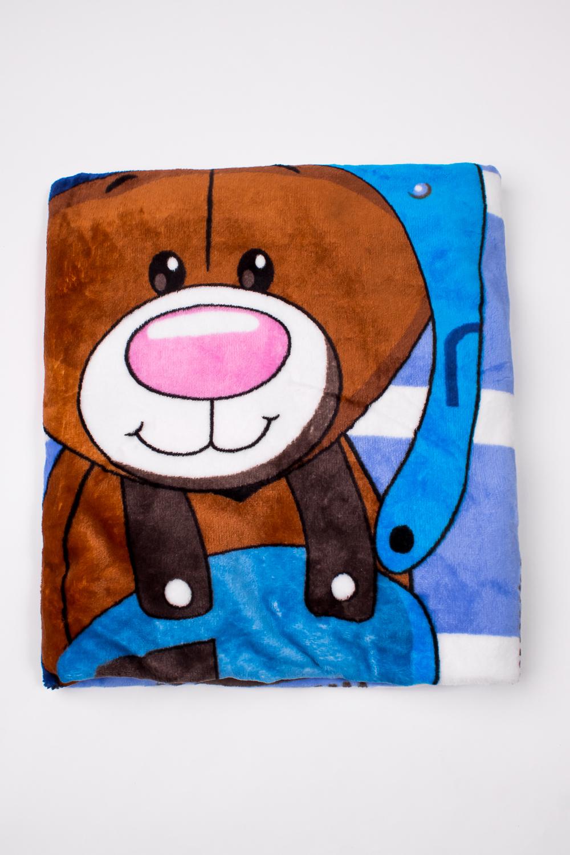 ОдеялоОдеяла и подушки<br>Мягкое, легкое, приятное на ощупь одеяло. Практичное, устойчивый к разного рода загрязнениям, легко стирается, моментально сохнет.  В изделии использованы цвета: синий, коричневый и др.<br><br>Размер : 100*110<br>Материал: Велсофт<br>Количество в наличии: 2