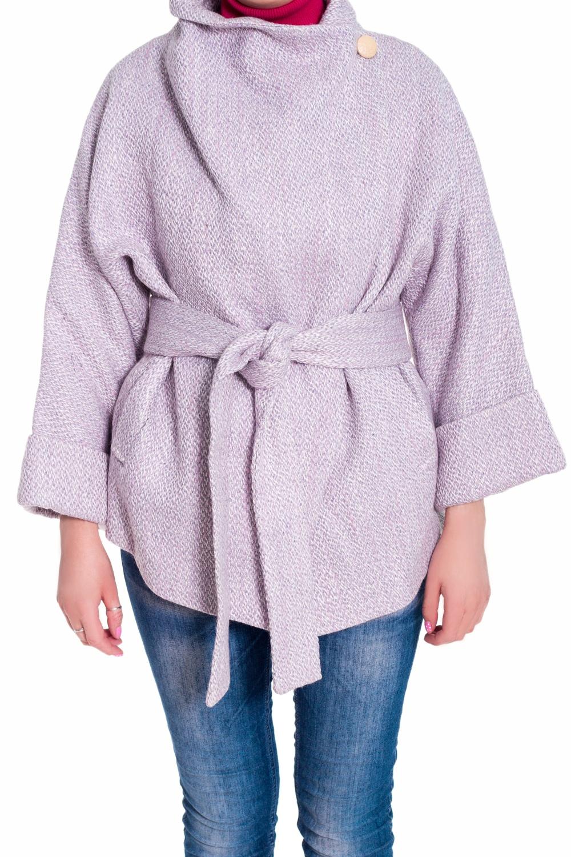 ПальтоПальто<br>Оригинальное пальто на запах. Модель свободного силуэта, выполнена из пальтовой ткани. Отличный выбор для повседневного и делового гардероба. Пояс в комплект не входит  Цвет: розово-сиреневый<br><br>Воротник: Стойка<br>Горловина: Запах<br>По длине: Короткие<br>По материалу: Пальтовая ткань<br>По образу: Город<br>По рисунку: Однотонные<br>По сезону: Весна,Осень<br>По силуэту: Свободные<br>По стилю: Офисный стиль,Повседневный стиль<br>По элементам: С карманами<br>Рукав: Рукав три четверти<br>Размер : 46<br>Материал: Пальтовая ткань<br>Количество в наличии: 1