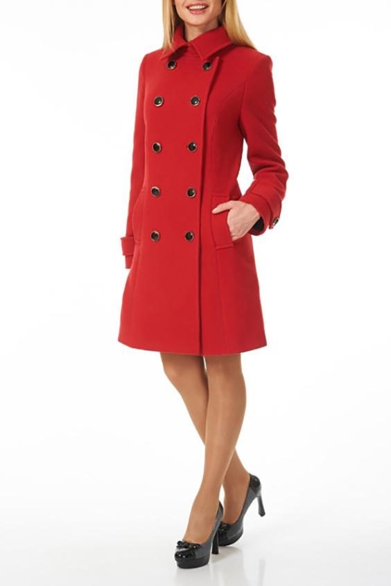 ПальтоПальто<br>Однотонное пальто с застежкой на пуговицы. Модель выполнена из плотной пальтовой ткани. Отличный выбор для повседневного гардероба. Пальто без пояса.  В изделии использованы цвета: красный  Ростовка изделия 170 см.<br><br>Воротник: Отложной<br>Застежка: С пуговицами<br>По длине: До колена<br>По материалу: Пальтовая ткань<br>По рисунку: Однотонные<br>По силуэту: Полуприталенные<br>По стилю: Повседневный стиль<br>По элементам: С карманами,С патами<br>Рукав: Длинный рукав<br>По сезону: Осень,Весна<br>Размер : 44<br>Материал: Пальтовая ткань<br>Количество в наличии: 1