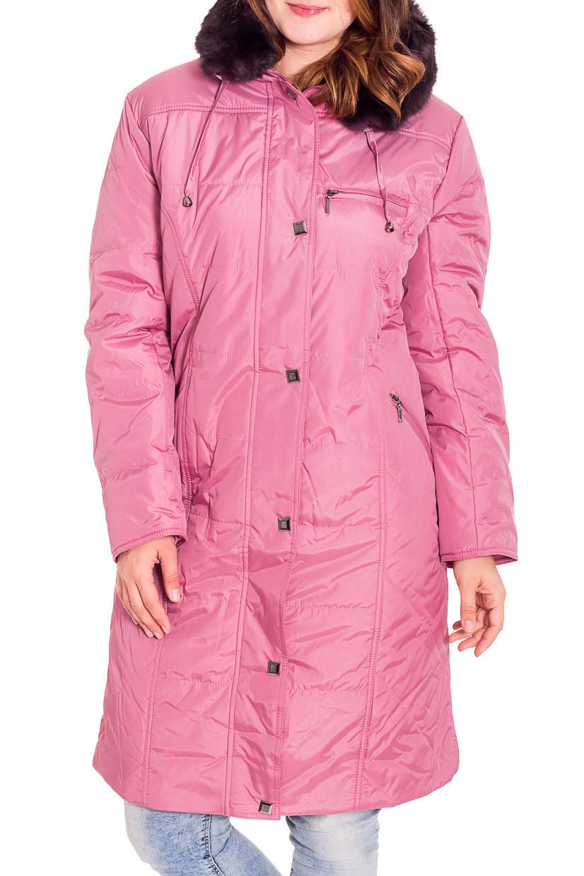 ПальтоКуртки<br>Зимнее пальто полуприталенного силуэта, длинной до колена, с карманами, застежка на молнию и кнопки. Капюшон украшен искусственным мехом.  Ростовка изделия 170 см.  В изделии использованы цвета: розовый, бордовый  Рост девушки-фотомодели 180 см.<br><br>Застежка: С кнопками,С молнией<br>По длине: Удлиненные<br>По материалу: Плащевая ткань,Тканевые<br>По рисунку: Однотонные<br>По сезону: Осень,Зима<br>По силуэту: Полуприталенные<br>По стилю: Повседневный стиль<br>По элементам: С капюшоном,С карманами<br>Рукав: Длинный рукав<br>Размер : 48,50,52,54,56,58,60<br>Материал: Болонья<br>Количество в наличии: 13