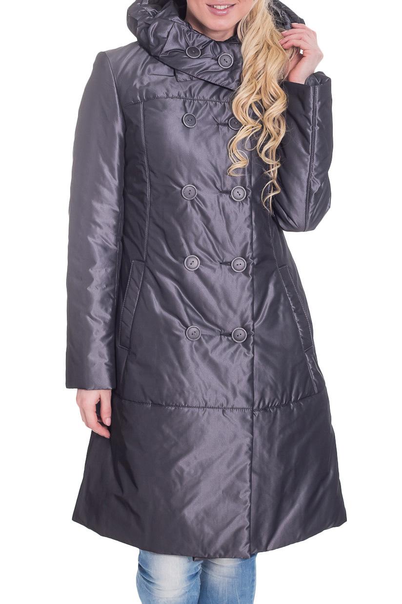 КурткаКуртки<br>Женская куртка с капюшоном и застежкой на пуговицы. Модель выполнена из плотной болоньи. Ростовка изделия 170 см.  Цвет: стальной  Рост девушки-фотомодели 170 см<br><br>Застежка: С пуговицами<br>По длине: Удлиненные<br>По материалу: Плащевая ткань<br>По рисунку: Однотонные<br>По силуэту: Полуприталенные<br>По стилю: Повседневный стиль<br>По элементам: С капюшоном,С карманами<br>Рукав: Длинный рукав<br>По сезону: Осень,Весна<br>Размер : 44<br>Материал: Болонья<br>Количество в наличии: 1