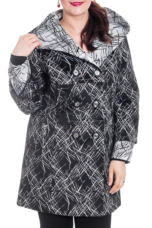 ПальтоПальто<br>Демисезонное пальто с капюшоном полуприталенного силуэта, длинной ниже колена, с карманами, застежка на пуговицы. Ростовка 170 см.  Цвет: черный, белый, серый  Рост девушки-фотомодели 180 см.<br><br>Застежка: С пуговицами<br>По материалу: Пальтовая ткань,Шерсть,Тканевые<br>По рисунку: С принтом,Цветные<br>По силуэту: Полуприталенные<br>По стилю: Повседневный стиль<br>По элементам: С капюшоном,С карманами<br>Рукав: Длинный рукав<br>По сезону: Осень,Весна<br>По длине: До колена<br>Размер : 50<br>Материал: Пальтовая ткань<br>Количество в наличии: 1