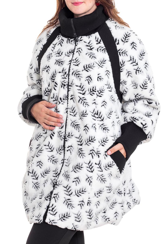 ПальтоПальто<br>Красивое пальто свободного силуэта из искусственного меха. Отличный выбор на прохладную погоду.  Ростовка изделия 170 см.  В изделии использованы цвета: белый, черный  Рост девушки-фотомодели 180 см<br><br>Воротник: Стояче-отложной<br>По длине: До колена<br>По материалу: Мех<br>По рисунку: С принтом,Фактурный рисунок,Цветные<br>По силуэту: Полуприталенные<br>По стилю: Повседневный стиль<br>По элементам: С декором,С карманами,С манжетами<br>Рукав: Длинный рукав<br>Застежка: С молнией<br>По сезону: Осень,Весна<br>Размер : 60,62,64,68,70,72<br>Материал: Искусственный мех<br>Количество в наличии: 6