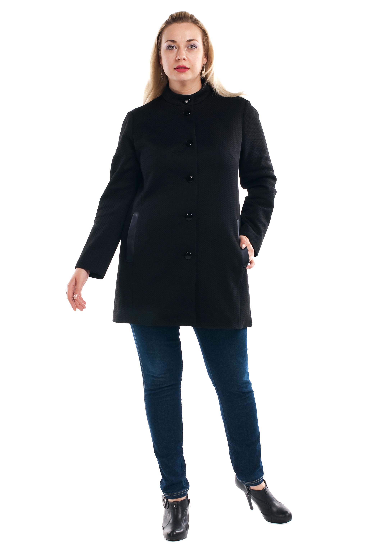 ПальтоПальто<br>Элегантное женское пальто с небольшим воротником стойка и длинными рукавами. Модель с застежкой на пуговицы, выполнена из качественной пальтовой ткани.  Параметры для 64 размера: Длина изделия - 86 см. Ширина плеч - 49 см. Пог - 66 см. Пот - 70 см. Поб - 75 см. длина рукава - 61 см.  Цвет: черный  Рост девушки-фотомодели 173 см<br><br>Воротник: Стойка<br>По образу: Город<br>По рисунку: Однотонные<br>По сезону: Весна,Осень<br>По силуэту: Свободные<br>По стилю: Офисный стиль,Повседневный стиль<br>По элементам: С декором,С карманами<br>Рукав: Длинный рукав<br>Застежка: С пуговицами<br>По длине: До колена<br>По материалу: Пальтовая ткань<br>Размер : 52,54,56,58,60,62,64,66,68,70<br>Материал: Пальтовая ткань<br>Количество в наличии: 9