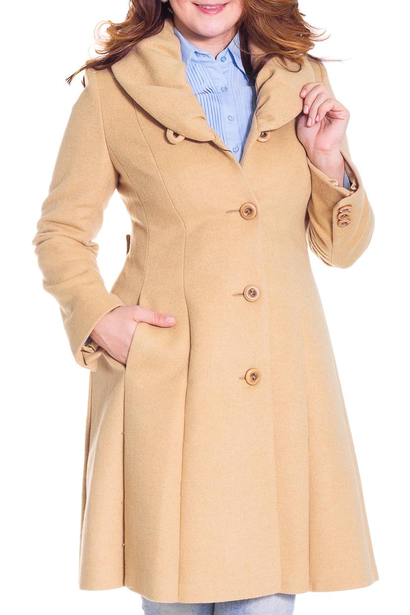ПальтоПальто<br>Демисезонное пальто приталенного силуэта, длинной выше колена, отложной воротник, карманы, застежка на пуговицы. Ростовка 164-170 см.  Цвет: бежевый  Рост девушки-фотомодели 180 см.<br><br>Воротник: Фантазийный<br>Застежка: С пуговицами<br>По длине: Ниже колена<br>По материалу: Пальтовая ткань,Шерсть<br>По образу: Город<br>По рисунку: Однотонные<br>По сезону: Весна,Осень<br>По силуэту: Прямые<br>По стилю: Повседневный стиль<br>По элементам: С декором,С карманами<br>Рукав: Длинный рукав<br>Размер : 46,48,50,52<br>Материал: Пальтовая ткань<br>Количество в наличии: 2
