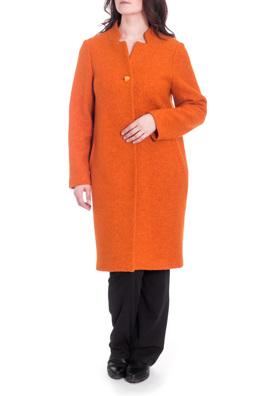 ПальтоПальто<br>Пальто из шерстяной ткани, прямого силуэта, с втачным рукавом, воротник - стойка, карманы прорезные, застежка на пуговицах, длина миди. Ростовка изделия 164-170 см.  В изделии использованы цвета: оранжевый  Рост девушки-фотомодели 180 см<br><br>Горловина: Фигурная горловина<br>Застежка: С пуговицами<br>По длине: Ниже колена<br>По материалу: Пальтовая ткань,Шерсть<br>По рисунку: Однотонные<br>По силуэту: Прямые<br>По стилю: Повседневный стиль<br>По элементам: С карманами<br>Рукав: Длинный рукав<br>По сезону: Осень,Весна<br>Размер : 50,52,54<br>Материал: Пальтовая ткань<br>Количество в наличии: 3