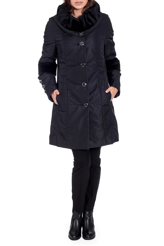 ПальтоКуртки<br>Красивое зимнее пальто с отделкой из меха. Модель на подкладе, выполнена из плотной болоньи. Отличный выбор для повседневного гардероба. Ростовка изделия 170 см.  В изделии использованы цвета: черный  Рост девушки-фотомодели 170 см  Темперетурный режим до -15 градусов.<br><br>Воротник: Фантазийный<br>Застежка: С пуговицами<br>По длине: Средней длины<br>По материалу: Тканевые<br>По рисунку: Однотонные<br>По силуэту: Полуприталенные<br>По стилю: Повседневный стиль<br>По элементам: С декором,С карманами<br>Рукав: Длинный рукав<br>По сезону: Зима<br>Размер : 46<br>Материал: Болонья<br>Количество в наличии: 1
