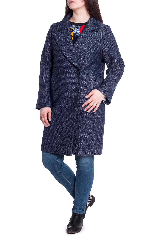 ПальтоПальто<br>Пальто демисезонное из шерстяной ткани, прямого силуэта, с застежкой на пуговицу.  В изделии использованы цвета: синий  Рост девушки-фотомодели 180 см<br><br>Воротник: Отложной<br>Горловина: V- горловина<br>Застежка: С пуговицами<br>По длине: До колена<br>По материалу: Пальтовая ткань,Шерсть<br>По рисунку: Однотонные<br>По силуэту: Полуприталенные<br>По стилю: Повседневный стиль<br>Рукав: Длинный рукав<br>По сезону: Осень,Весна<br>Размер : 46,48,50,52,54<br>Материал: Пальтовая ткань<br>Количество в наличии: 5