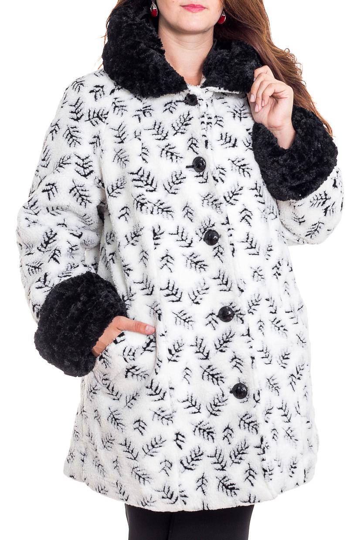 ПальтоПальто<br>Красивое пальто свободного силуэта из искусственного меха. Отличный выбор на прохладную погоду.  Ростовка изделия 170 см.  В изделии использованы цвета: белый, черный  Рост девушки-фотомодели 180 см<br><br>Воротник: Стояче-отложной<br>Застежка: С пуговицами<br>По длине: До колена<br>По материалу: Мех<br>По рисунку: С принтом,Фактурный рисунок,Цветные<br>По силуэту: Полуприталенные<br>По стилю: Повседневный стиль<br>По элементам: С декором,С карманами,С манжетами<br>Рукав: Длинный рукав<br>По сезону: Осень,Весна<br>Размер : 60,62,64,66,68,72<br>Материал: Искусственный мех<br>Количество в наличии: 6