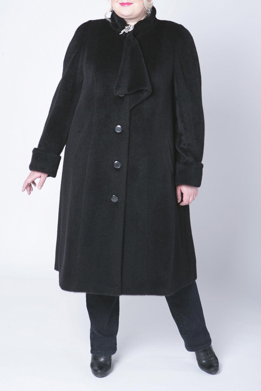 ПальтоПальто<br>Удобное пальто с застежкой на молнию. Модель выполнена из непродуваемой ткани.  Цвет: черный  Рост девушки-фотомодели 172 см<br><br>Воротник: Фантазийный<br>Застежка: С пуговицами<br>По длине: Ниже колена<br>По рисунку: Однотонные<br>По силуэту: Прямые<br>По стилю: Повседневный стиль<br>По элементам: С декором,С карманами<br>Рукав: Длинный рукав<br>По сезону: Осень,Весна<br>Размер : 58,60<br>Материал: Искусственный мех<br>Количество в наличии: 2