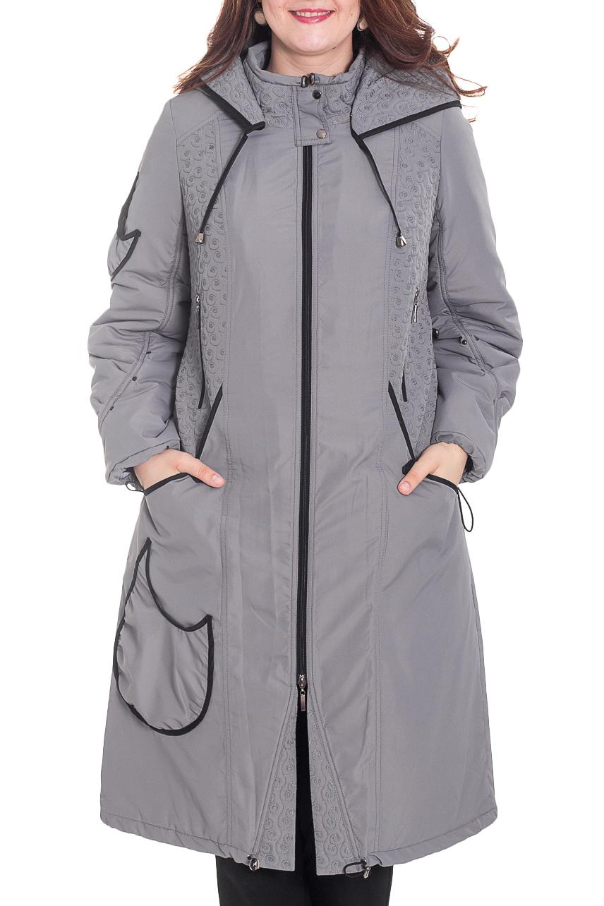 Куртка - пальтоКуртки<br>Гармоничная женская куртка из болоневой ткани на подкладе. Капюшон, длинный рукав, карманы по боковым сторонам. Идеальный вариант на сезон осень-весна.  Цвет: серый.  Рост девушки-фотомодели 180 см<br><br>Воротник: Стойка<br>Застежка: С молнией<br>По длине: Удлиненные<br>По материалу: Плащевая ткань<br>По образу: Город<br>По рисунку: Однотонные<br>По силуэту: Прямые<br>По стилю: Классический стиль,Повседневный стиль<br>По элементам: С воротником,С декором,С капюшоном,С карманами,С манжетами,С подкладом<br>Рукав: Длинный рукав<br>По сезону: Осень,Весна<br>Размер : 50,52,54,56,58,60,62,64,68<br>Материал: Болонья<br>Количество в наличии: 14